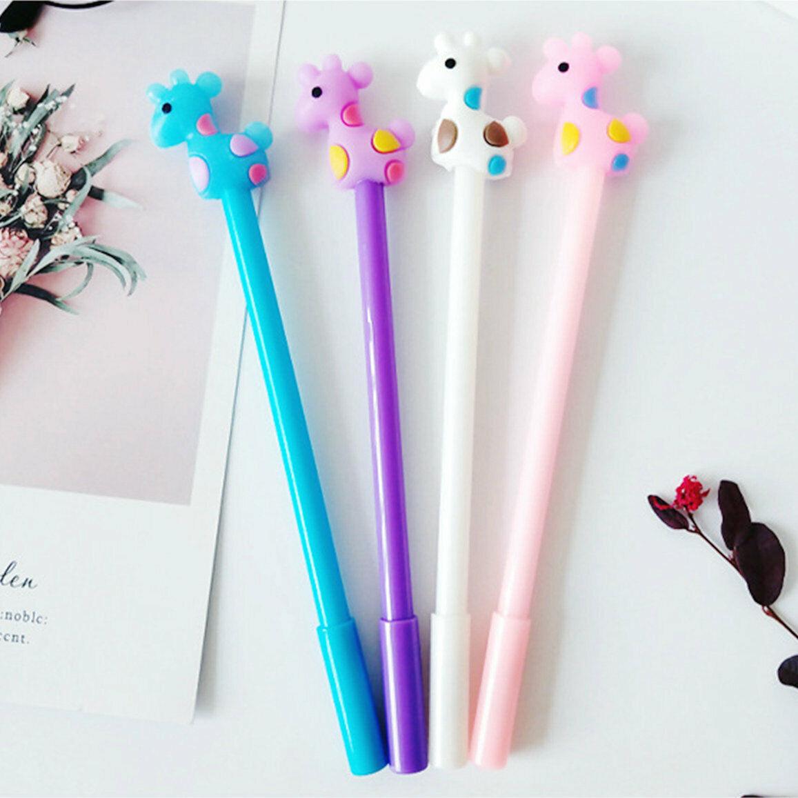 8pcs Cute Cartoon Kawaii Colorful Animal Fish bone Gel Ink Ball Point Pen gifts