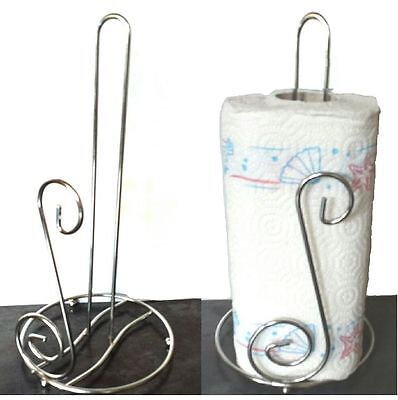 Chrome Polished Paper Towel Holder (Stainless steel kitchen roll holder paper towel pole stand -bnib-Chrome)