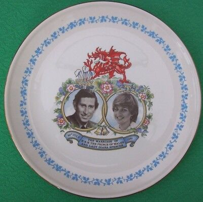 Mercian China Plate Measham The Marriage of Prince of Wales & Lady Diana Spencer