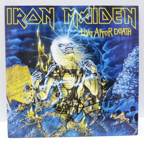 Bruce Dickinson Iron Maiden Live After Autographed Signed LP Beckett Certified