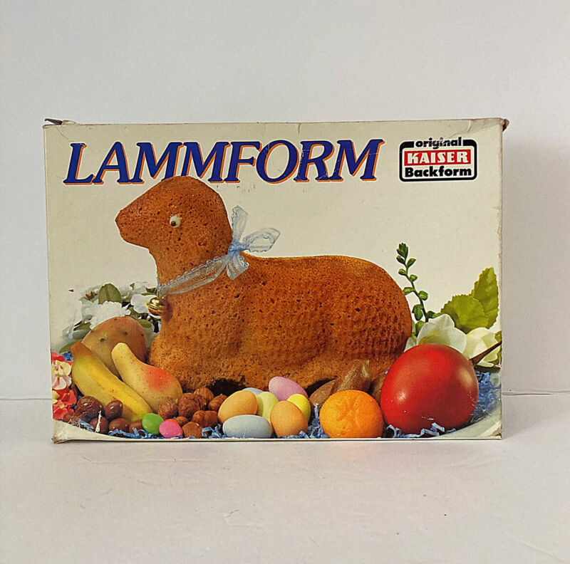 Vintage Metal KAISER Cake Lamb Mold Made in W. Germany Easter Kitchen Home