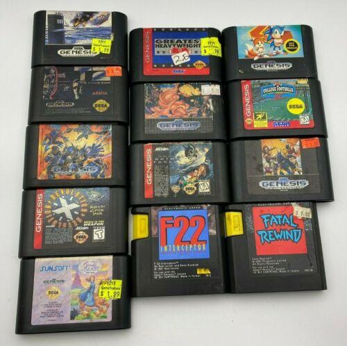 Lot of 13 Sega Genesis Games Cartridge Tested X-Men Greendog Batman Fatal Rewind