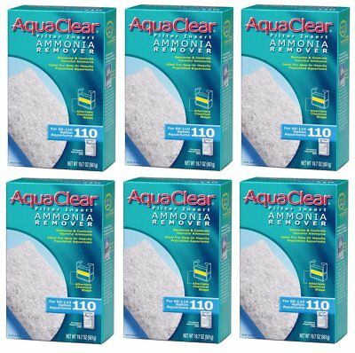 - BULK 6 Ammonia Remover Filter Inserts for Hagen AquaClear 110/500 (6 boxes x 1)