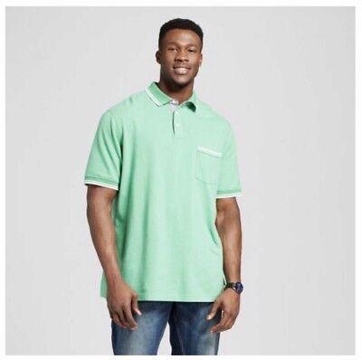 Green Polo Shirt - Big and Tall - 100% Cotton - Men's 4xb 3xb 2xb xlt lt m (Big And Tall Cotton Polo Shirt)