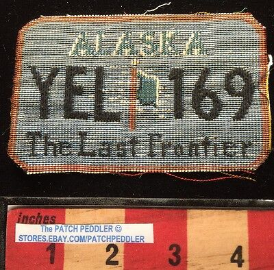 ALASKA LICENSE PLATE PATCH -kinda-no back & cut edge...but thick like patch 61C7