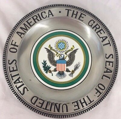 Ensco The Great Seal Of The United Seals Vintage Wall Plaque Collectible