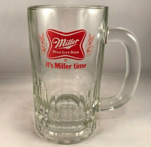 Its Miller Time Glass Beer Stein Mug