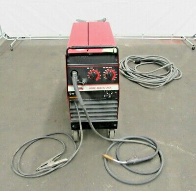 Lincoln Electric Wirematic 255 Mig Welder Id W-033