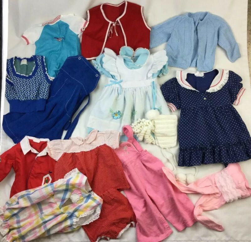 Vtg Estate Misc baby Kids Dress Pants Clothes lot of Sold As Is FLAWS