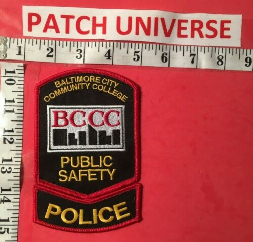 BALTIMORE CITY COMMUNITY COLLEGE PUBLIC SAFETY SHOULDER PATCH  N030