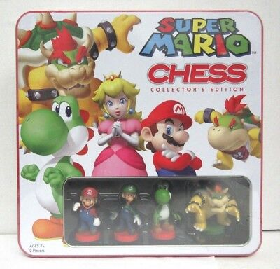 Super Mario Brothers Chess Set  Chess Collectors Edition Tin