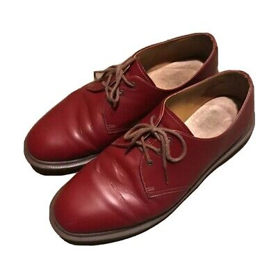 Dr. Martens 1461 Oxford Shoes Oxblood Red 3 Eye Made in England Boots US 9 UK 8 3 Eye Shoes Boots