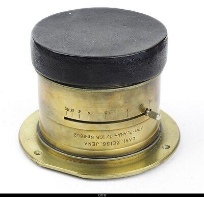 Brass Lens Carl Zeiss Jena Apo Planar 105cm 1050mm  No6852
