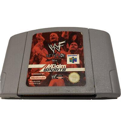 WWF ATTITUDE - NINTENDO 64 - N64 PAL Vintage Wrestling Game