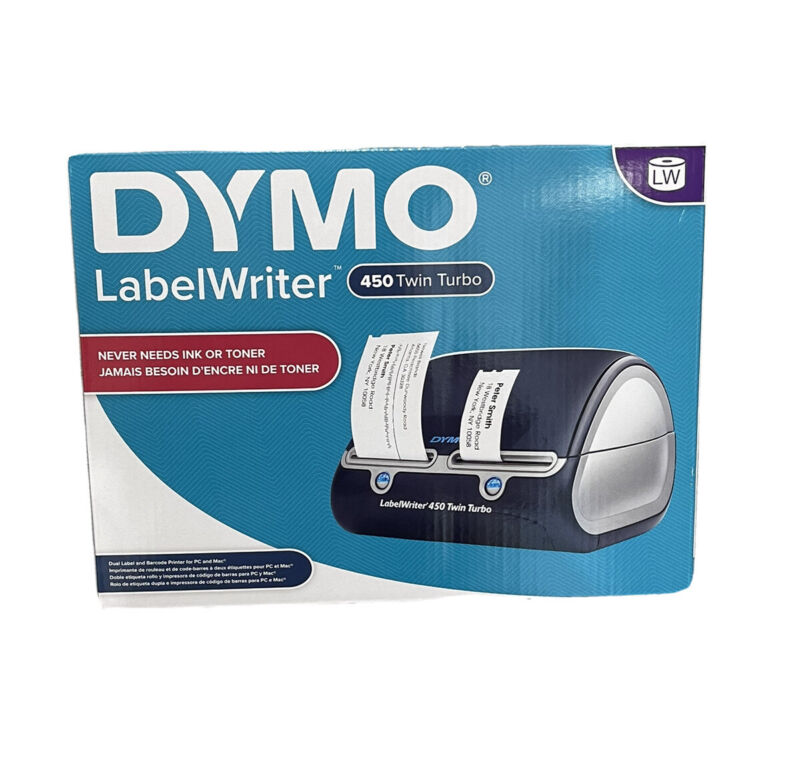 DYMO LABEL PRINTER WRITER 450 TWIN TUR FOR PC AND MAC **SAME DAY SHIPPING** 🚢🚚