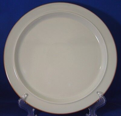 Danway Porzana Dinner Plate(s) Pale Celadon/Brown Trim