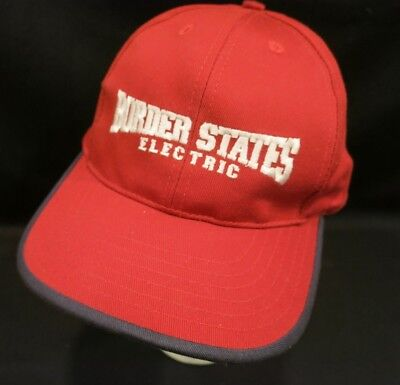 NWOT Border States Electric Baseball Cap Hat BSE Utility Workers Red Made in USA