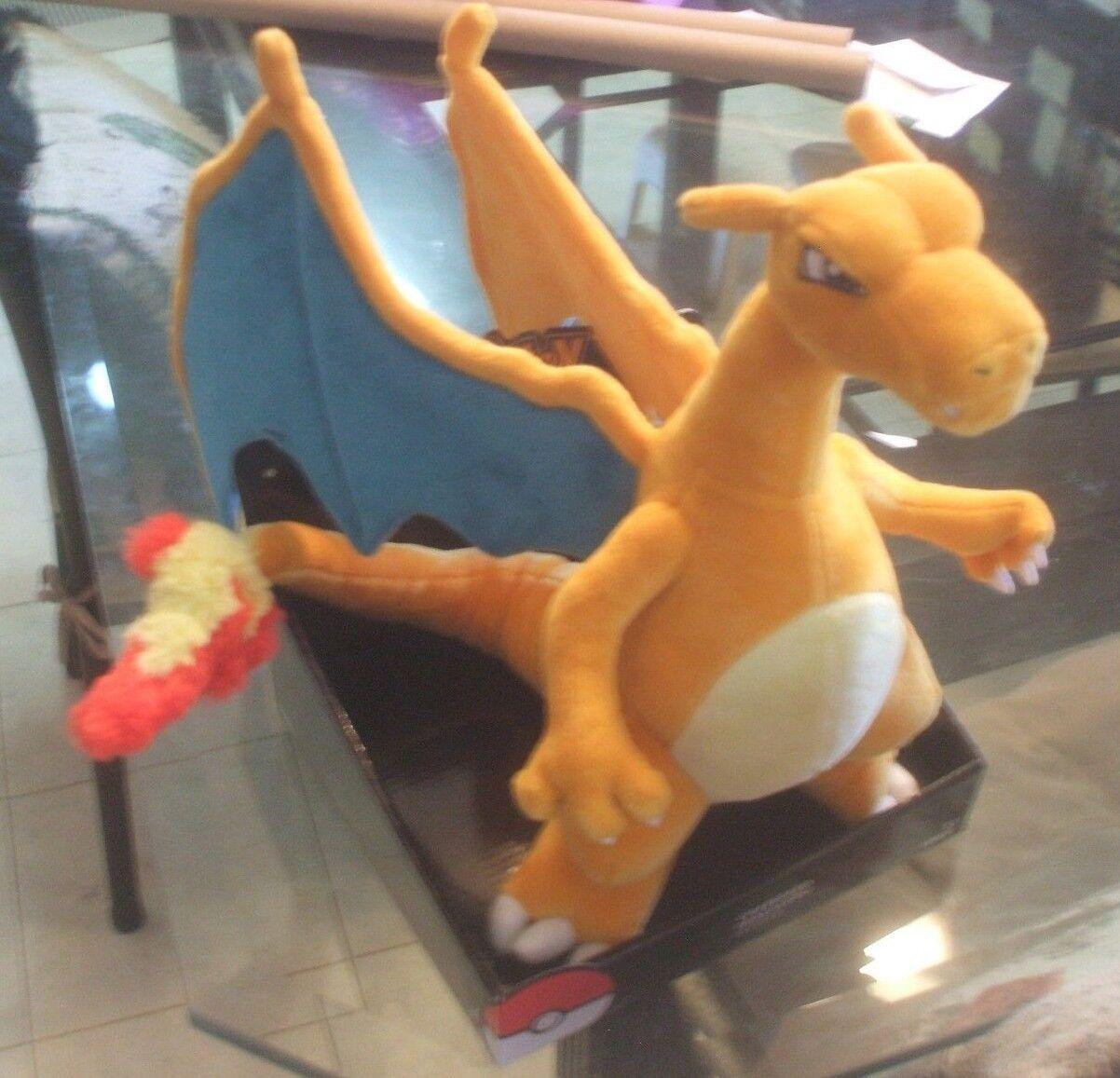 "Pokemon Charizard Large Plush Stuffed 12"" Tomy  Action Figur"
