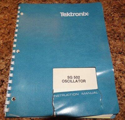 Tektronix Sg 502 Instruction Manual