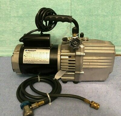 Used Mastercool 90067 Vacuum Pump 110v 7.5 Cfm Two Stage