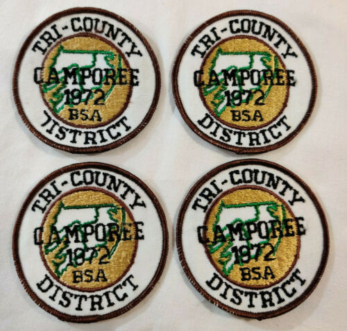 Lot of 4 BSA Tri-County District 1972 Camporee Patch