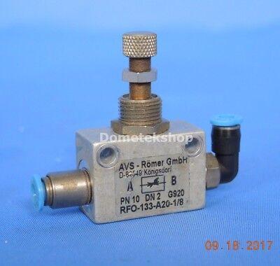 Avs Romer Rfo-133-a20-18 Manual Air Flow Regulator
