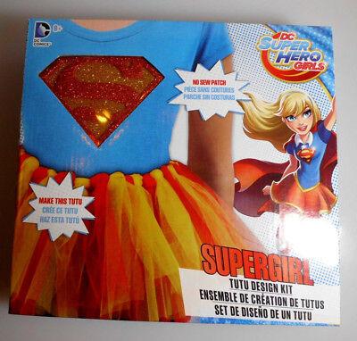 No Sew Halloween Costume (DC Super Hero Girls SUPERGIRL Tutu Design Kit w/ No Sew Patch Halloween)