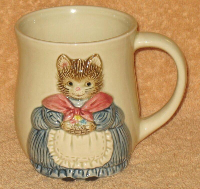 Vintage Otagiri Handpainted in Japan Cat Mug