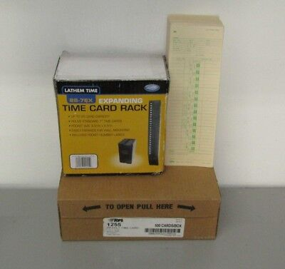Tops Weekly Time Cards3-12 X 10-12500 Per Box Top1255 Lathem Time Card Rack