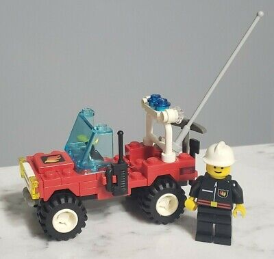 Vintage 1994 Lego Town Set 1702 Fire Fighter 4x4 Truck Complete w/ Minifigure