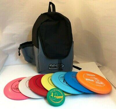 NEW FRISBEE DISC GOLF INNOVA BUILD YOUR OWN 7 PACK SET w BLACK BACKPACK BAG MINI