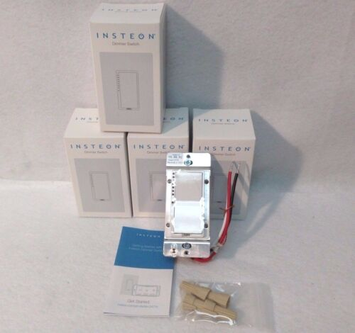 4 Insteon 2477D SwitchLinc Dimmer Switches NEW, 600W - White - New In Box