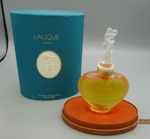 Lalique Limited Edition Perfume Bottle and Box - 1997 - Amour