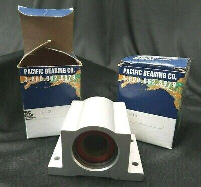 New Pacific Bearing P12c Linear Pillow Block Bearing 34 Shaft - Lot Of 2