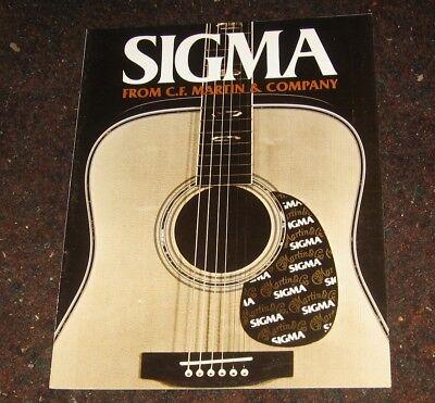 1985 Martin Sigma Guitar Catalog