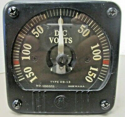 General Electric 8db13vcr3 Opposing Range Panel Meter D.c Volts 0-150 1298853