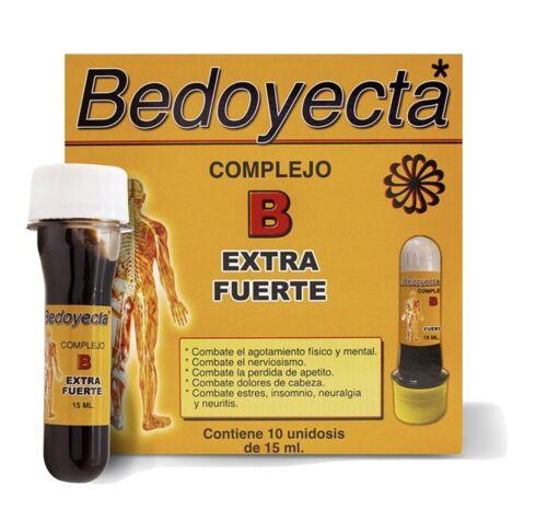 Bedoyecta Complejo B Extra Fuerte 10 Unidades Viales Bebibles ENVIO GRATIS