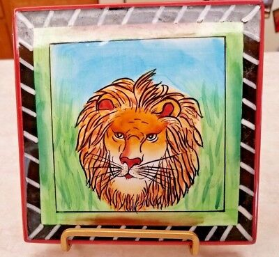 Lion In Grass Art Tile Certified International 6