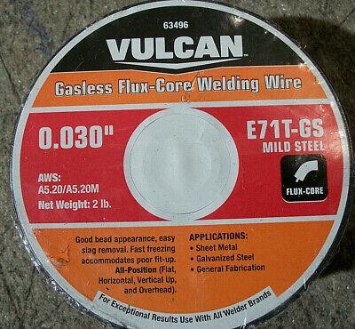 Vulcan 0.035 In. E71t-gs Flux Core Welding Wire 2.00 Lbs. Roll 63496 J7