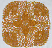 Gold Crochet Doily
