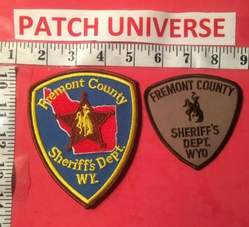 LOT OF TWO DIFFERENT FREMONT COUNTY WY SHERIFF  SHOULDER PATCHES  S089