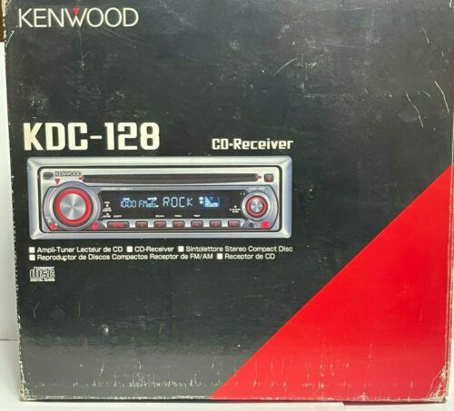 Kenwood KDC128 In Dash CD Receiver Car Stereo w/ Box & Instructions ~ Untested