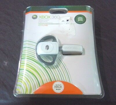 Genuine OEM (Microsoft Xbox 360) White Wireless Gaming Headset  (FACTORY SEALED) for sale  Shipping to Canada
