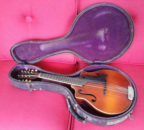 Antique mandolin - Harmony Cremona 1920s - Albert Shutt - with M&W banjolin case