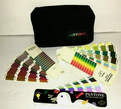 Pantone Set Color Formula Guide 747xr Coated 1995 And Metallic Guide In Case