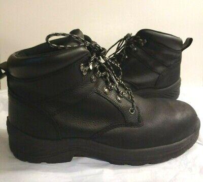 Iron Age IA0101 Men's 11W Steel Toe EH Boots Black Genuine Leather