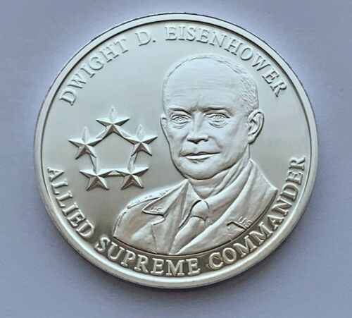 LEADERS OF WORLD WAR II DWIGHT D. EISENHOWER COMMERATIVE PROOF COIN