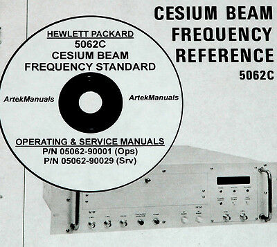 Hp 5062c Cesium Beam Frequency Reference Operating Service Manuals