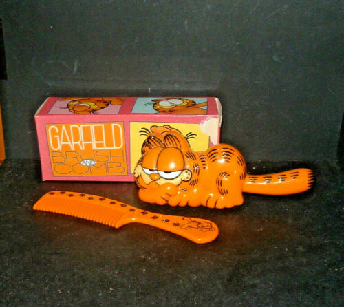 Vintage Avon 1978 GARFIELD Brush And Comb Set BOXED Jim Davis EXCELLENT