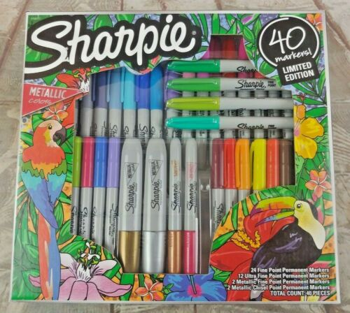 Sharpie Limited Edition Markers Art Pens w/Metallic Ultra Fine Point 40 Pack